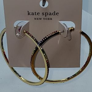 """NWT KATE SPADE """"SAVE THE DATE INSIDE"""" OUT HOOPS"""